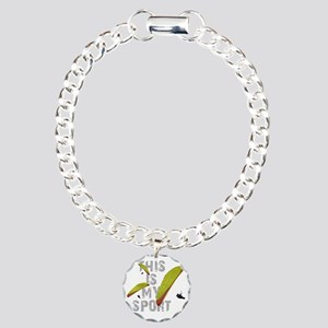 my_sport_for_cp_white Charm Bracelet, One Charm
