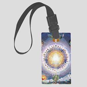 Universal Yoga Mandala Large Luggage Tag
