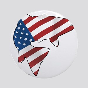 flag trout 1 Round Ornament