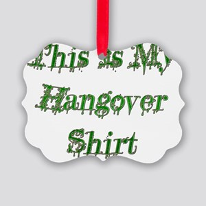 Hangover Shirt green Picture Ornament