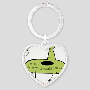 Electric Ship Green Heart Keychain