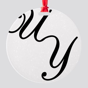 Cursive Logo Round Ornament