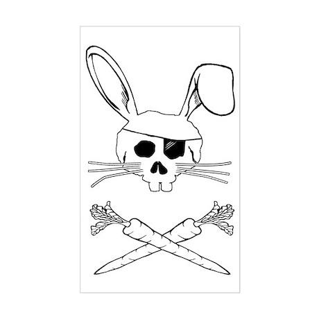 bunnypirate Sticker (Rectangle)