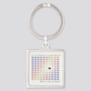 1in110Special-dkbg Square Keychain