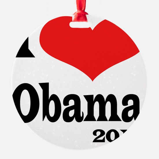 I Love Obama4x4 Ornament