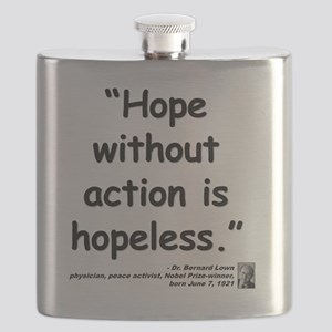 Lown Hope Quote Flask