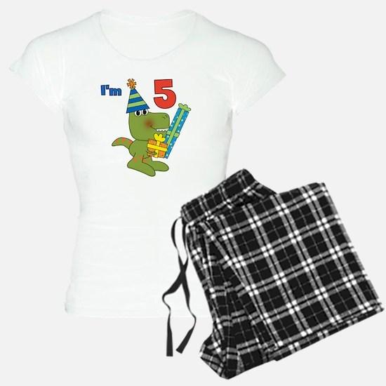 Little Dino 5th Birthday Pajamas