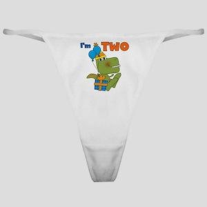 Little Dino 2nd Birthday Classic Thong