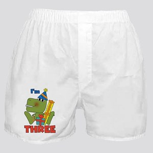 Little Dino 3rd Birthday Boxer Shorts
