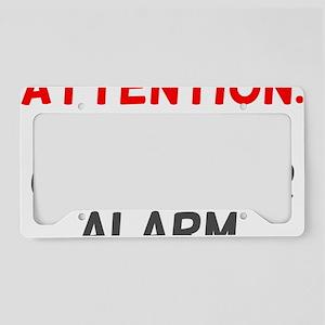 Cause For Alarm License Plate Holder