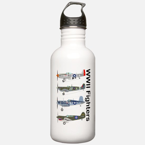 WWIIFighters_Front Water Bottle