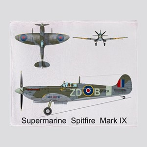 SpitfireMH434_Front Throw Blanket