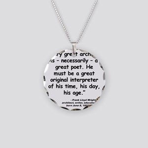 Wright Poet Quote Necklace Circle Charm