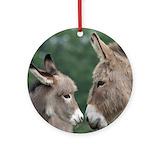 Donkey Round Ornaments
