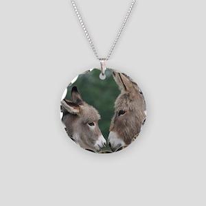 Donkey clock Necklace Circle Charm