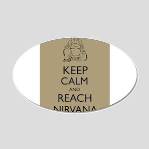 Buddha Keep Calm and Reach Nirvana Zen Buddhism Wa