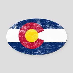 Colorado Oval Car Magnet