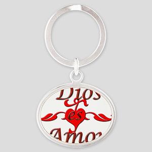 Dios Oval Keychain