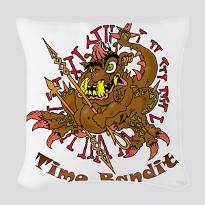 TIME BANDIT Woven Throw Pillow