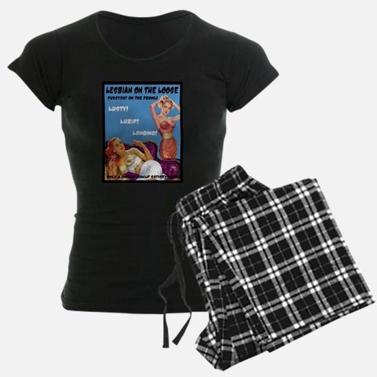 Lesbian Lust Gay Pulp Fiction Image Pin Up Pajamas