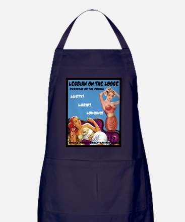 Lesbian Lust Gay Pulp Fiction Image Pin Up Apron (