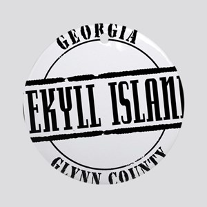 Jekyll Island Title W Round Ornament