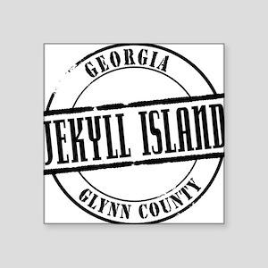 "Jekyll Island Title W Square Sticker 3"" x 3"""