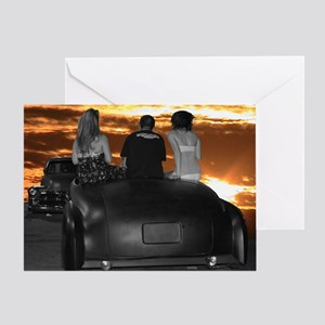 sunsetsquare Greeting Card