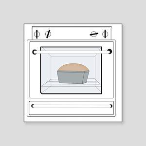 """bun-in-the-oven Square Sticker 3"""" x 3"""""""