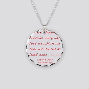 Nietzsche1customdark Necklace Circle Charm