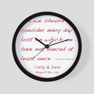 Nietzsche1customdark Wall Clock