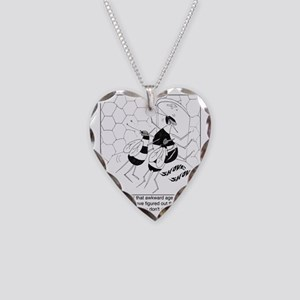 6888_bee_cartoon Necklace Heart Charm