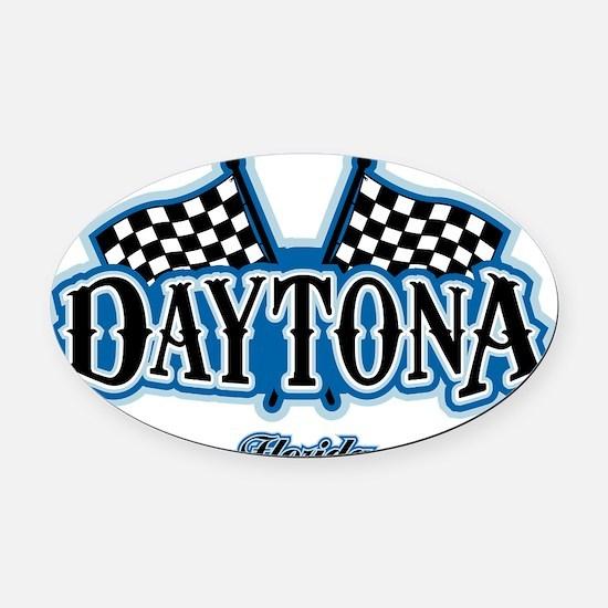 Daytona Flagged Oval Car Magnet