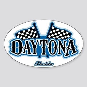 Daytona Flagged Sticker (Oval)