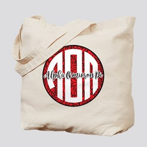 Alpha Omicron Pi Monogram Tote Bag