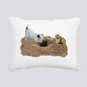 JACK RUSSELL AND PRAIRIE Rectangular Canvas Pillow