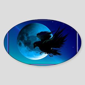 Wall Peel Raven Sticker (Oval)