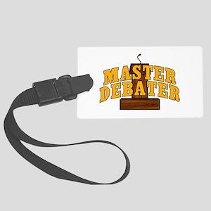 Master Debater Large Luggage Tag