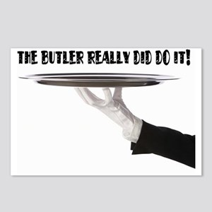 Its always the butler! Postcards (Package of 8)