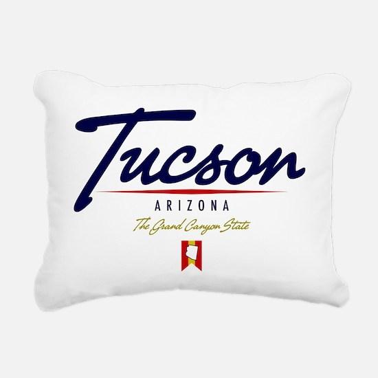 Tucson Script W Rectangular Canvas Pillow