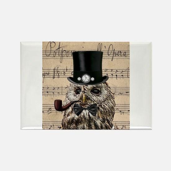 Victorian Steampunk Owl Sheet Music Magnets