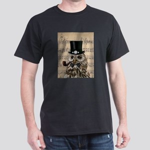 Victorian Steampunk Owl Sheet Music T-Shirt