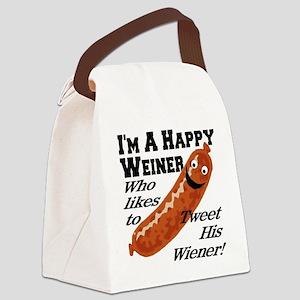happy_weiner Canvas Lunch Bag