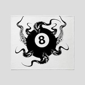 8_BALL_OCTOPUS_11x11_pillow Throw Blanket