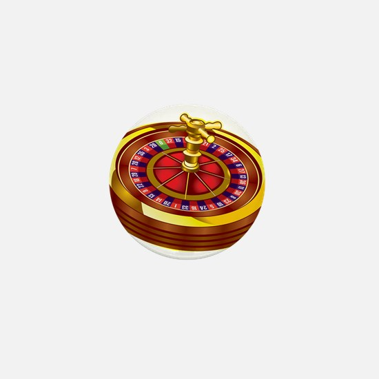 Roulette Wheel Mini Button