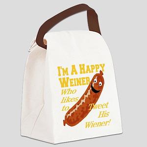 happy_weiner_transparent02 Canvas Lunch Bag