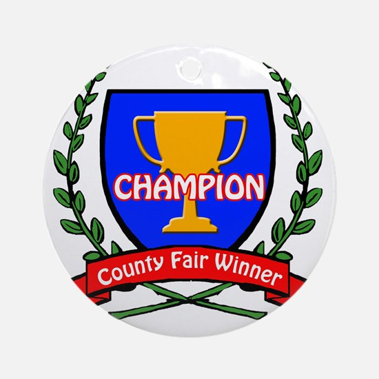 county fair LOGO Round Ornament