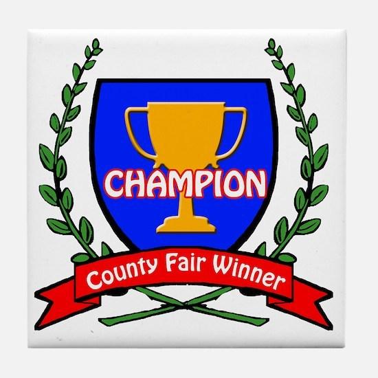 county fair LOGO Tile Coaster