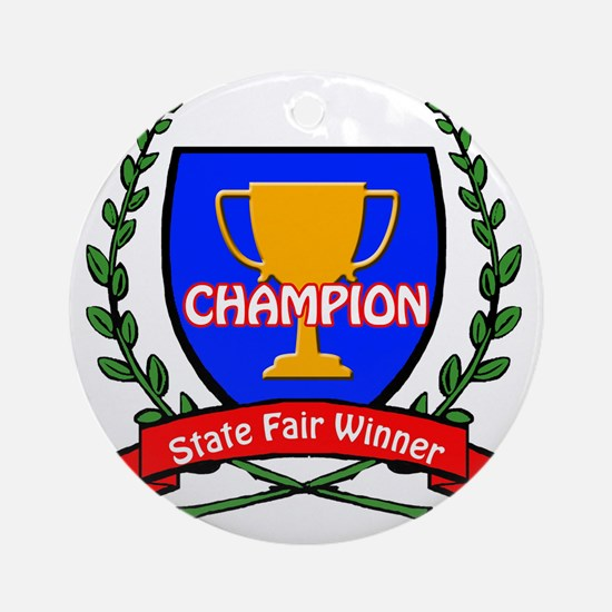 state fair Round Ornament
