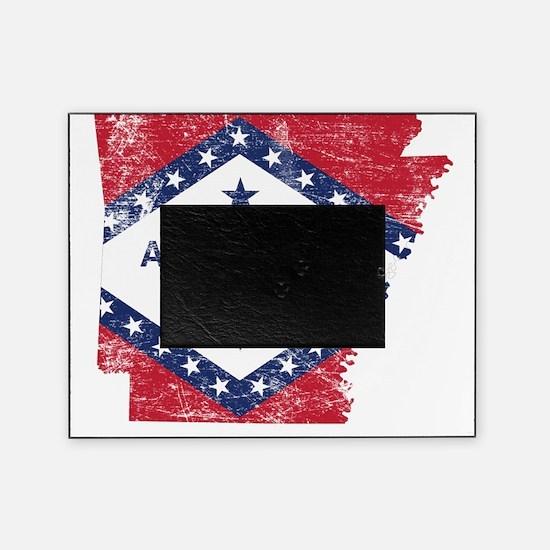 Arkansas Flag Map Picture Frame
